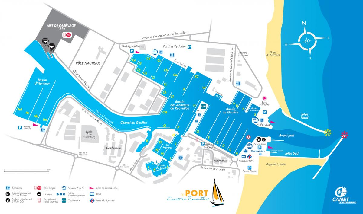 Map port canet en roussillon