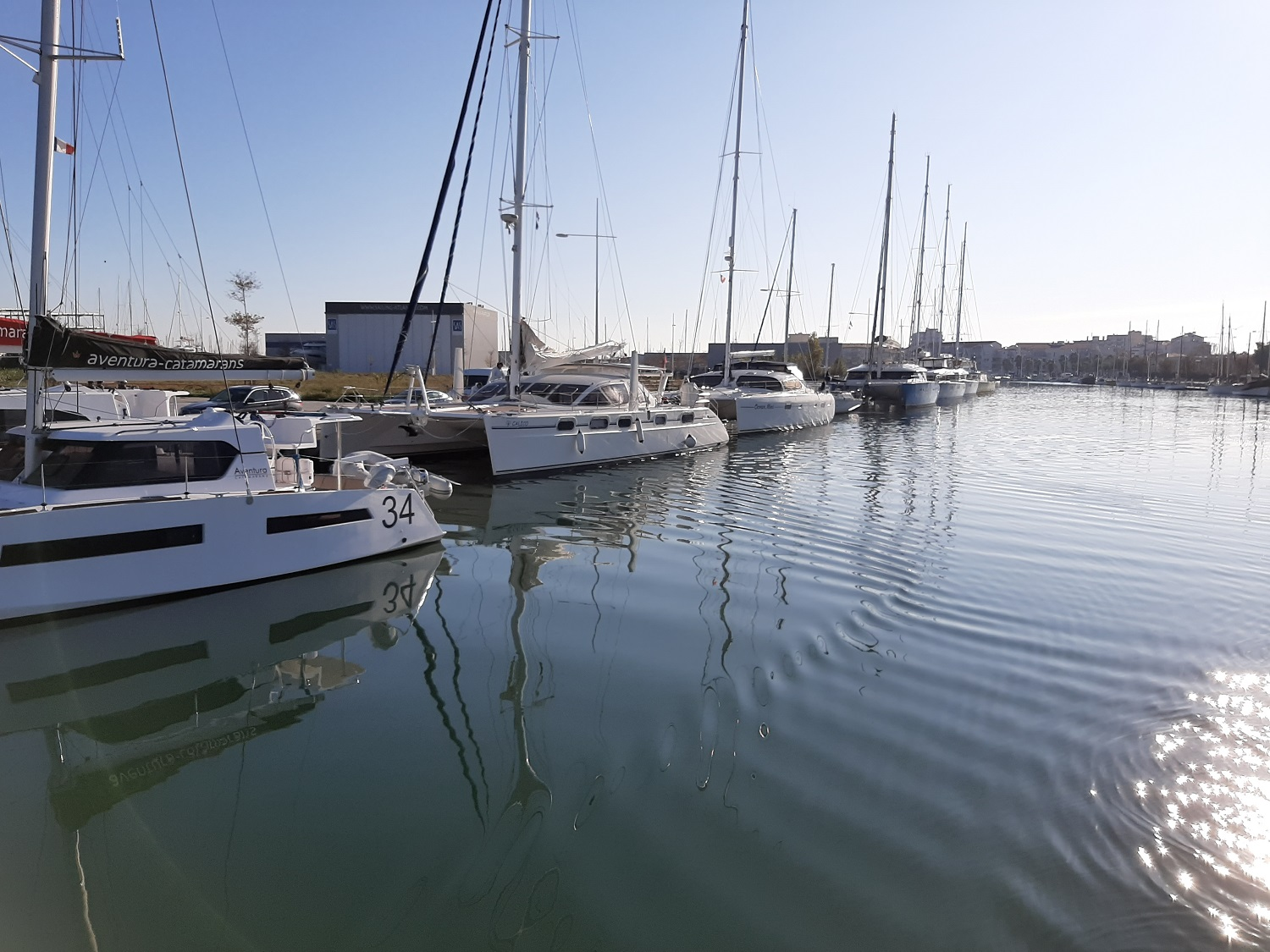 Canet en Roussillon - many catamarans