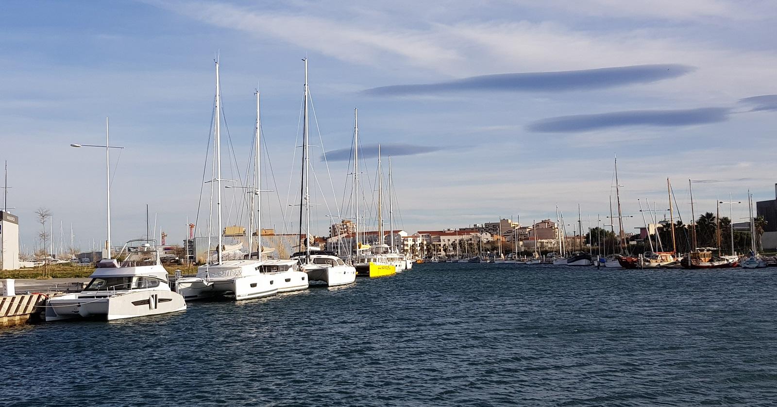 Canet en Roussillon - windy but sunny