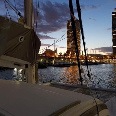 Port Olympique - Barcelone de nuit