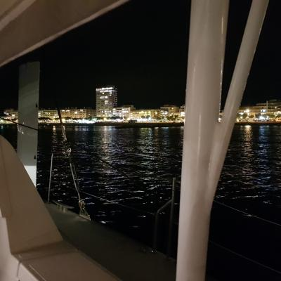 Anchorage Palamos by night