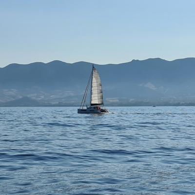 Catana 47 sailing in Sardinia