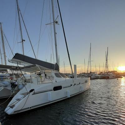 Delivery and departure Catana 471 LAVENTURA