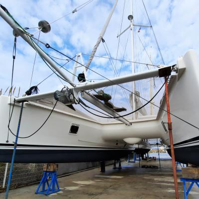 Catana 50 out of water
