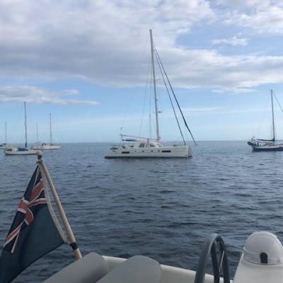 2 Catana 50 lockdown in Tahiti