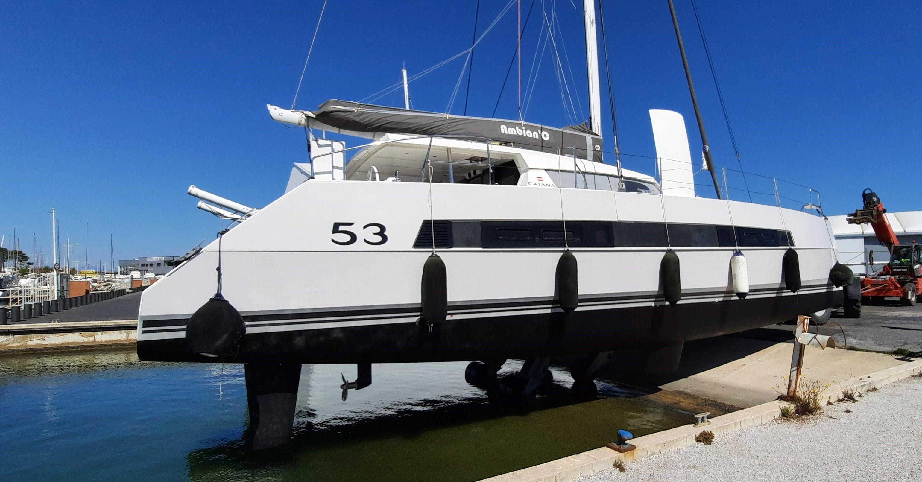Launching Catana 53