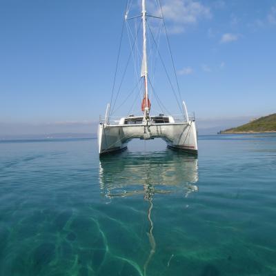 Catana 62 at anchorage in Porquerolles