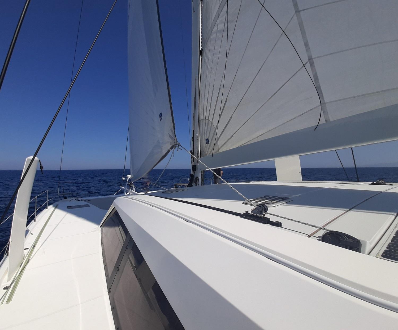 Catana 62 under sails