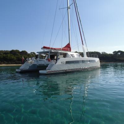 Catana 62 at anchorage