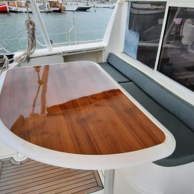 Transformation cockpit table Catana 47 Manao