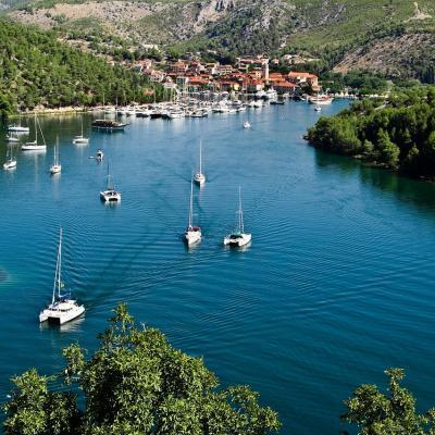 Croatia anchorage
