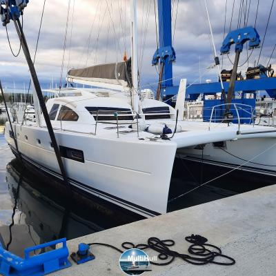 Haul out Catana 50 for anti-fouling