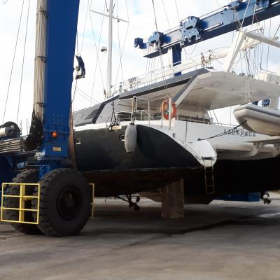 Haul out Catamaran Alumer 80