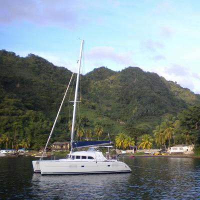 Lagoon 380 at anchorage