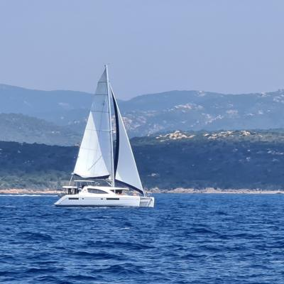 Léopard 45 under sails