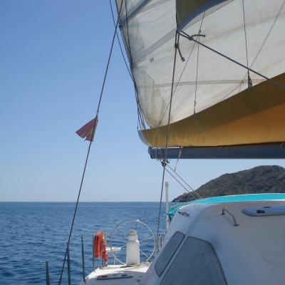 Nautitech 435 sailing in Spain