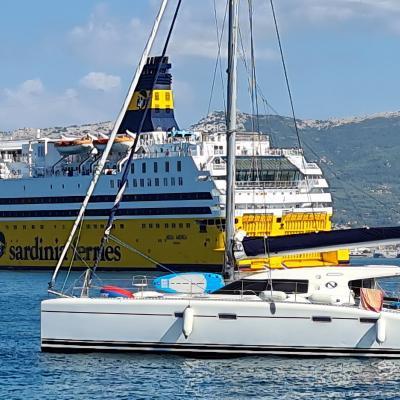 Nautitech 47 at anchorage in Saint Mandrier sur Mer