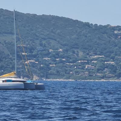 Neel 45 trimaran on French Riviera
