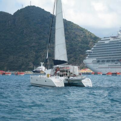Ocean liner or private catamaran?
