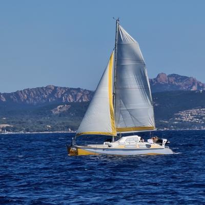 Outremer Catamarans under sails