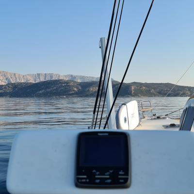 Perfect day for sailing in Sardinia