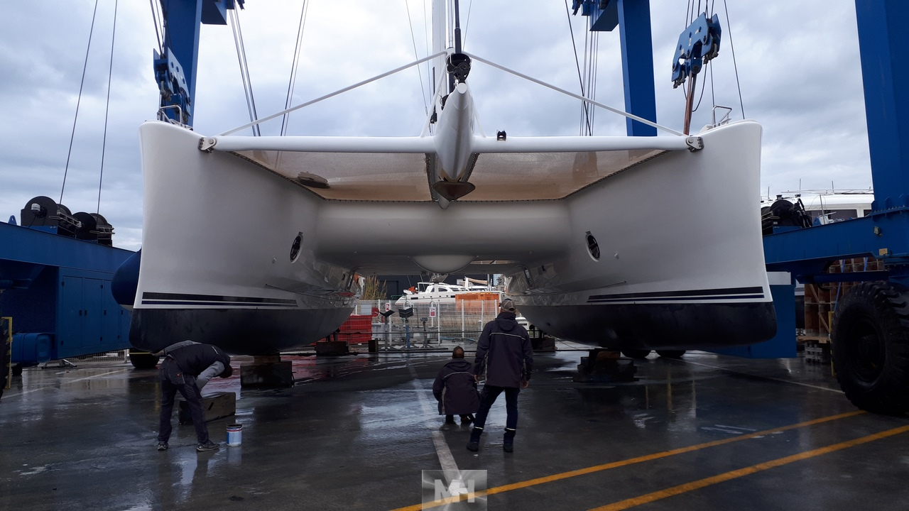 Preparation and launching Catana 65