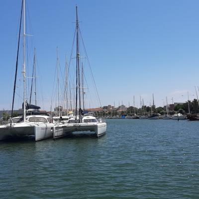 Privilège 585 & Nautitech 47 dock in Canet en Roussilon