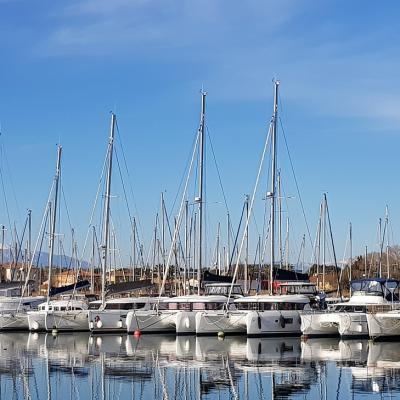 A quiet and sunny morning in Canet en Roussillon