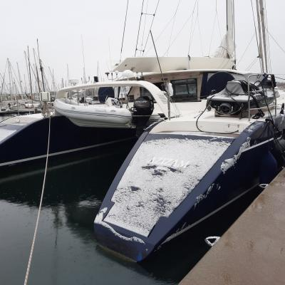 Tempête et neige à Canet en Roussillon