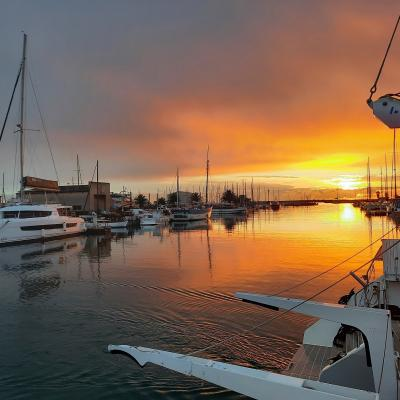 Wonderful sunrise in Canet en Roussillon