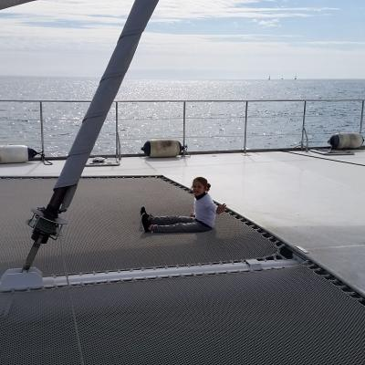 Huge trampoline on Taino 82