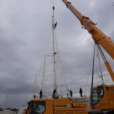 Unstepping mast Catana 471