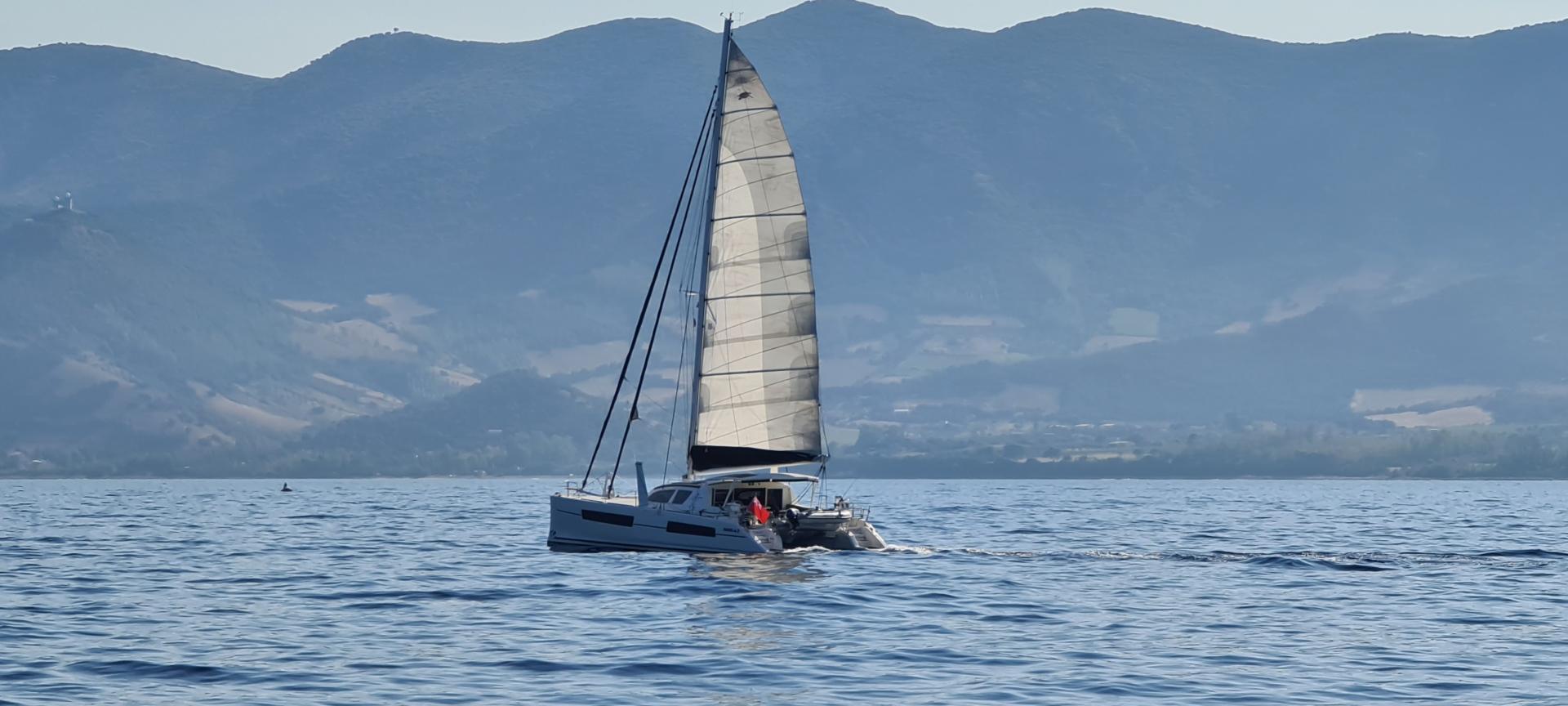 Catana 47 sailing sardinia