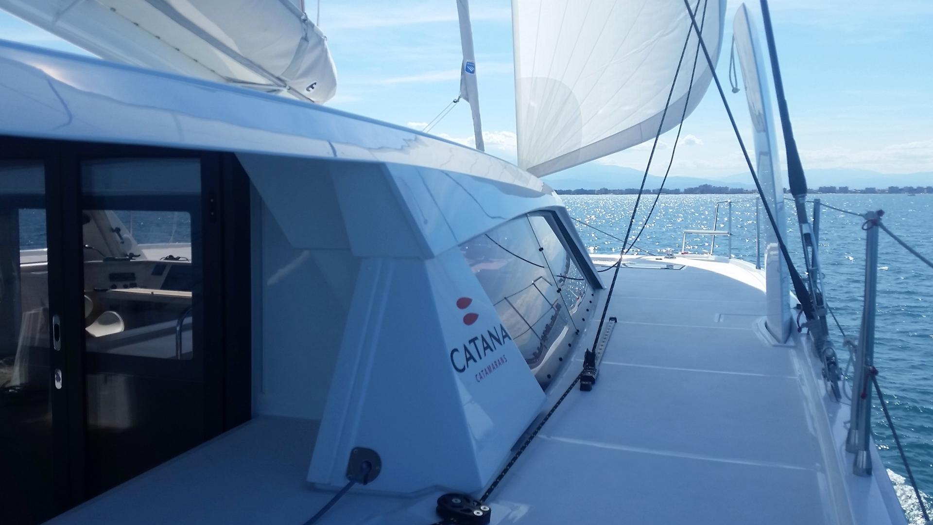 Catana 53 under sails