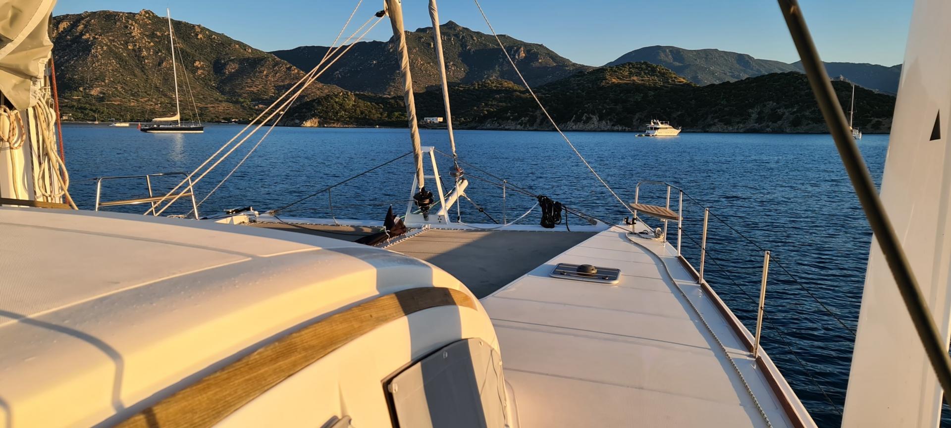 Catana 55 at anchorage