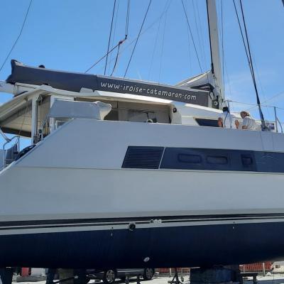 Préparation Catana 59 pour son nouveau propriétaire