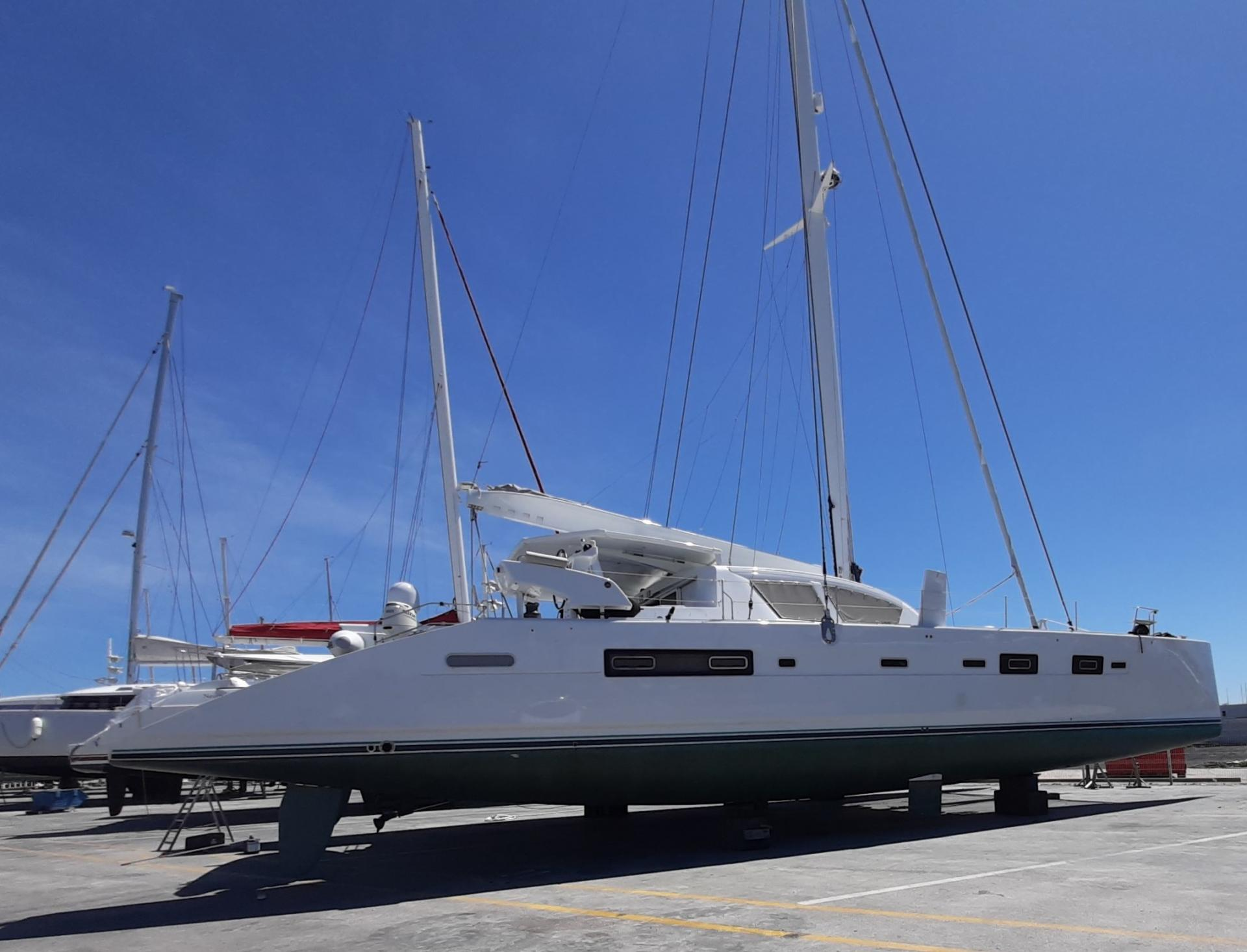 Catana 65 out of water