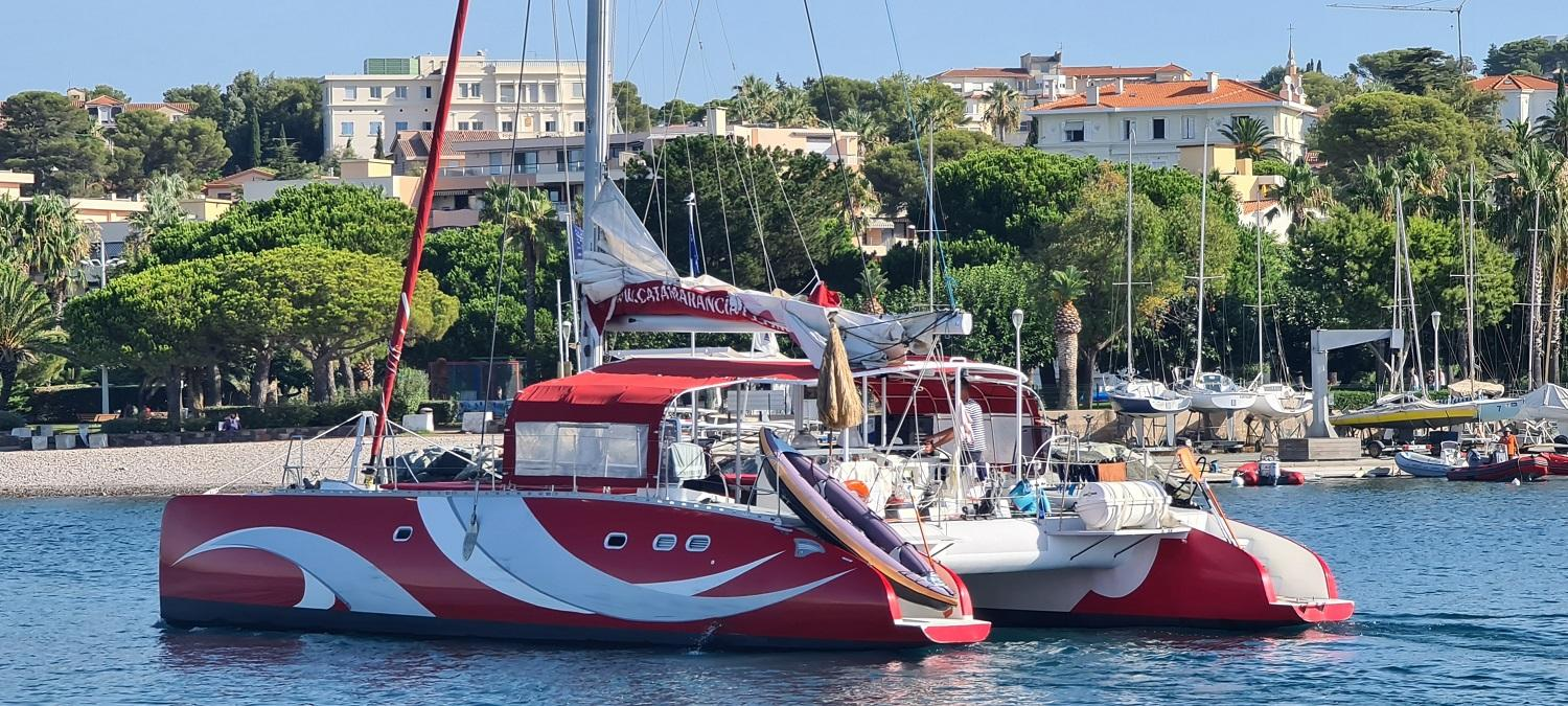 Charter catamaran on french riviera