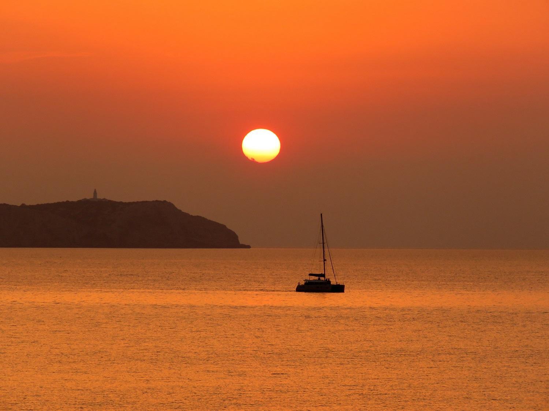 Conejera island sunset ibiza