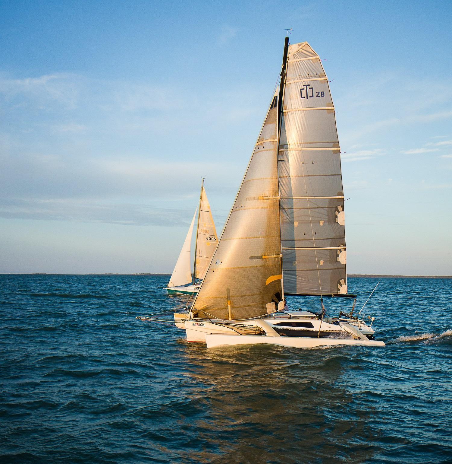 Corsair f27 under sails