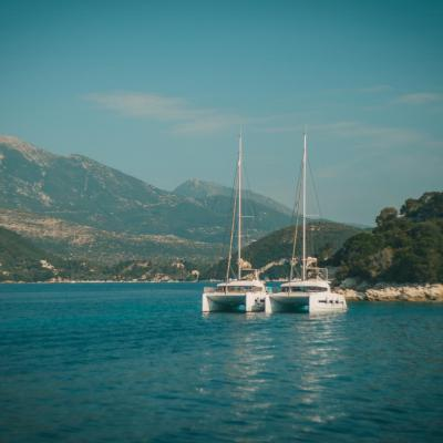 Greece yachts in ionic sea