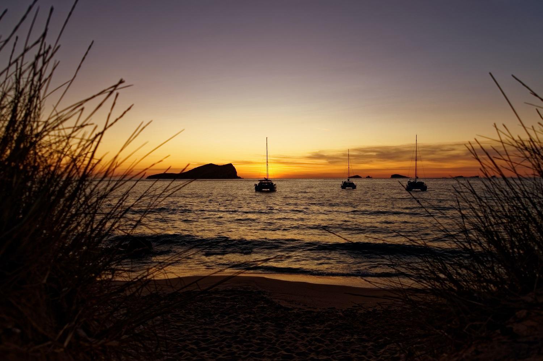 Ibiza sunset at cala comte