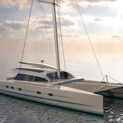 M60 Full Carbon High Performance Sailing Catamaran