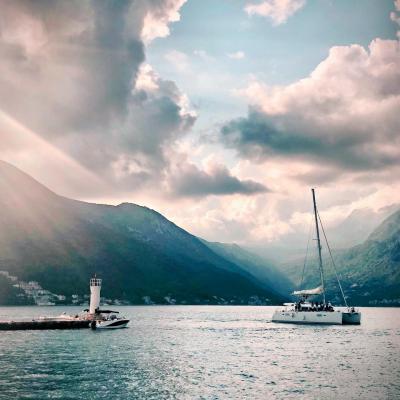 Montenegro sailing bay of kotor