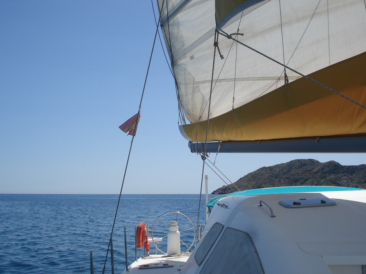 Nautitech 435 sailing in spain
