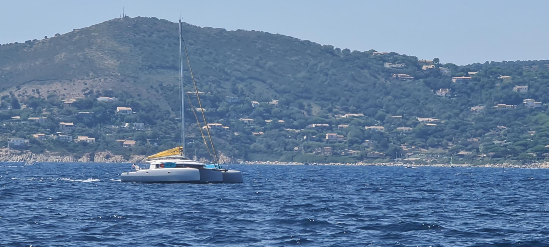 Neel 45 trimaran on french riviera