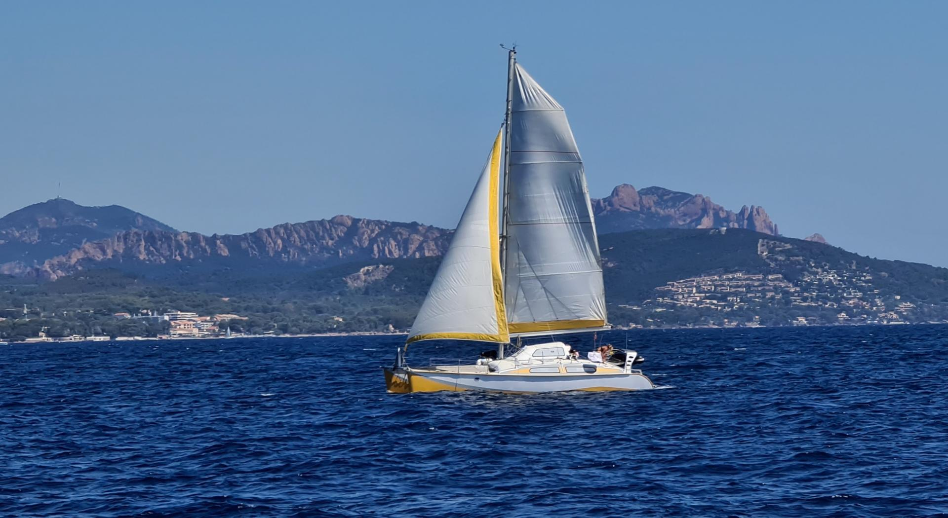 Outremer catamarans under sails