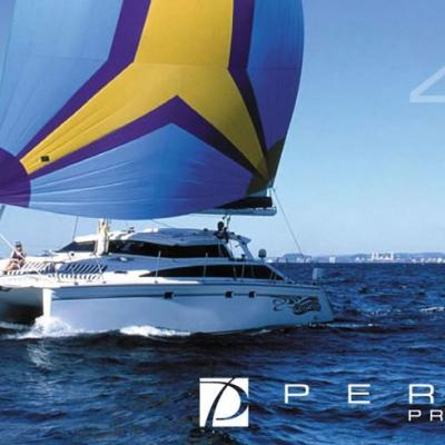 Perry 43 multihull cruising yacht