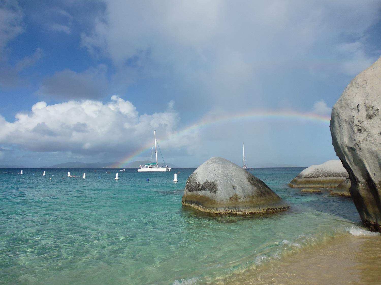 Rainbow in caribbean