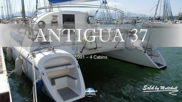 Sold by multihull antigua 37 4 cabins 1991